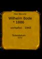 Wilhelm Bode, Stolperstein.png