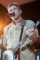 Will Lee with Larry Keel and Natural Bridge at Shepherdstown Opera House 2012.jpg