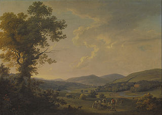 Landscape with Haymakers and a Distant View of a Georgian House