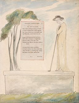 "William Blake - The Poems of Thomas Gray, Design 115, ""Elegy Written in a Country Church-Yard."" - Google Art Project"