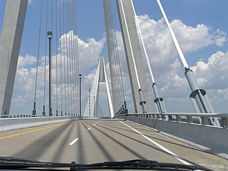 U.S. Route 231 in Indiana - The William H. Natcher Bridge over the Ohio River between Kentucky and Indiana