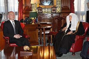 Consultative Assembly of Saudi Arabia - Abdullah ibn Muhammad Al ash-Sheikh with British foreign secretary William Hague in London, 5 March 2013