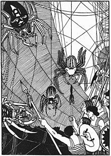 William Strang spider battle in 1894 True History.jpg
