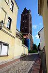 Wismar St. Marien , Blick auf den Turm.JPG