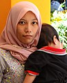 Woman with Child - Cameron Valley Tea Estate - Near Tanah Rata - Cameron Highlands - Malaysia (35542198285).jpg