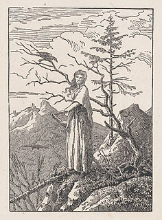 c. 1803/04 print by the German Romantic painter Caspar David Friedrich