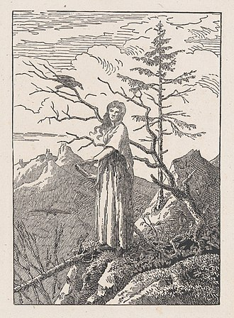 The Woman with the Spider's Web - Image: Woman with a Raven (Die Frau mit dem Raben am Abgrund) MET DP872948