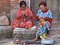 Women Knitting - Bhaktapur - Nepal (13486253383).jpg