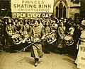 Womens Social and Political Union (WSPU) Fife and Drum band marching, 1909. (22735619410).jpg