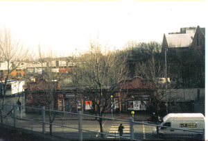 Wood Lane tube station (Central line) - The remains of the station pictured in 2001