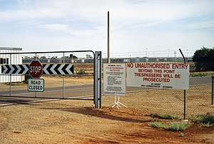 Woomera Immigration Reception and Processing Centre - The entrance of the Woomera IRPC