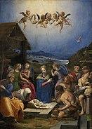 Worship of the shepherds by bronzino