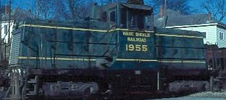 Ware Shoals Railroad - Ware Shoals Railroad engine, circa 1970s. Photo by Bill Shannon.