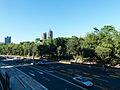 Xinshen South Road and Daan Park View from Footbridge 20140727.jpg
