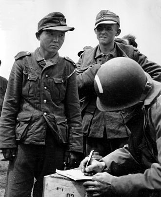 Ostlegionen - Yang Kyoungjong was a Korean who was forced to serve in the Imperial Japanese Army, Red Army and an Ost-Bataillon, a foreign unit of the Wehrmacht. He was captured by US forces in Normandy in 1944.