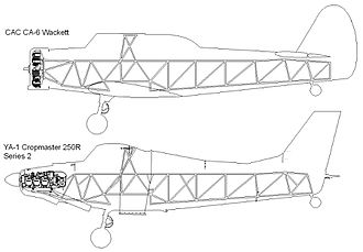 Space frame - Yeoman YA-1 vs CA-6 Wackett frames.
