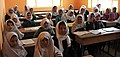 Young Afghan girls inside the classroom of Aliabad School-2012.jpg