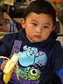Young Boy with Banana - Quetzaltenango (Xela) - Guatemala (15957696016).jpg