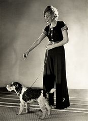 Yva Fashion photo model with dog c1932.jpg