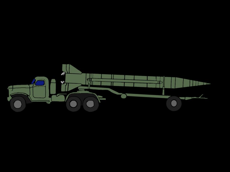 ZIL-157 SCUD Soviet Green Scud-A