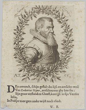 Zacharias Heyns - Image: Zacharias Heyns AET 55 with verse by Willem Bartjens