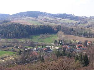 Zagórze Śląskie - Zagórze Śląskie from Grodno castle