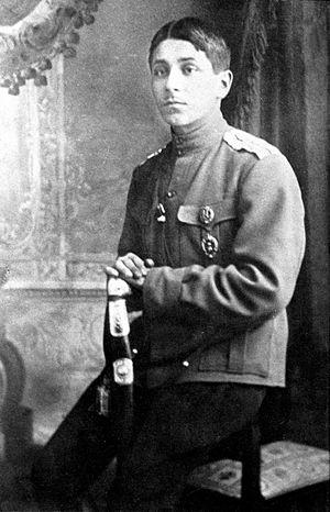 Mikhail Zoshchenko - Zoshchenko in uniform, 1915/16.
