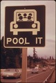 """POOL IT"" SIGN NORTH OF VANCOUVER, WASHINGTON, WAS A REMINDER THAT THE GASOLINE SHORTAGE WAS NOT OVER IN MARCH, 1974... - NARA - 555504.tif"