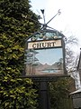 """""""Welcome to Churt"""" sign in the village centre - geograph.org.uk - 1707854.jpg"""