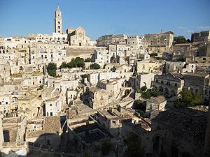 Matera ed il suo centro storico (www.wikipedia.it)