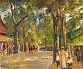 'Figures on the Grosse Seestrasse in Wannsee' by Max Liebermann, c 1920.jpg