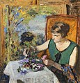 (Albi) Femme au bouquet (1925) Edouard Vuillard MTL.inv.440.jpg