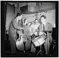 (Portrait of Stan Kenton, Kai Winding, Eddie Safranski, Pete Rugolo, and Shelly Manne, New York, N.Y.(?), ca. Jan. 1947) (LOC) (5020407572).jpg