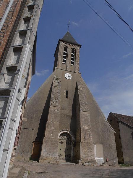 'Église Saint-Martin-et-Saint-Marc, construite au début  XIIe siècle