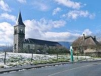 Église de Chambéry-le-Vieux dans la neige (2018).JPG