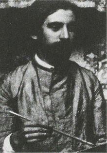 Émile Bernardo (1861-1941) kiam pentraĵo. Anonima foto c.1887.jpg