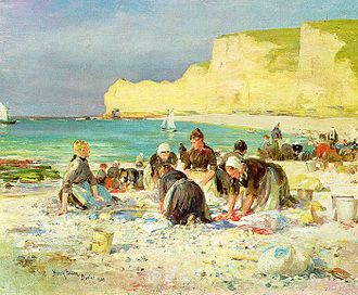 Henry Bacon (painter) - Henry Bacon's 1890 painting Étretat