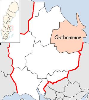 Östhammar Municipality - Image: Östhammar Municipality in Uppsala County