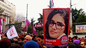 Issues and developments during the Turkish general elections, 2015 - Protests in central Istanbul following the murder of Özgecan Aslan