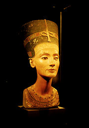 "Queen Nefertiti, her name meaning ""coming beauty"""