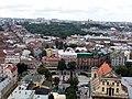 Вид на пам'ятник Шевченку з вежі міської Ратуші.jpg