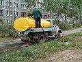 Заправка воды в водовозку из гидранта.JPG