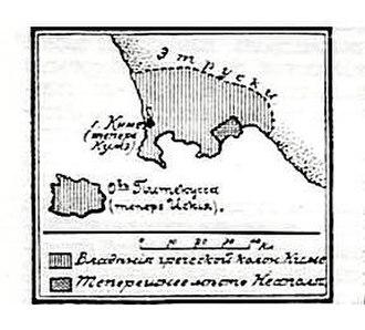 Battle of Cumae - Image: Карта к статье «Киме». Военная энциклопедия Сытина (Санкт Петербург, 1911 1915)