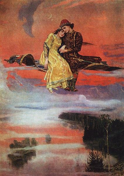 Enchanting World of the Russian Tale: Viktor Vasnetsov, Flying Carpet, 1926, The Victor Vasnetsov museum, Moscow, Russia.