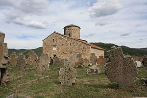 Church of the Holy Apostles Peter and Paul, Ras - The Church and old graveyard.