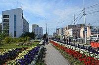 Проспект Ленина возле остановки «Кинотеатр Центральный».jpg
