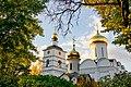 Собор Бориса и Глеба в Борисоглебском монастыре сквозь листву.jpg