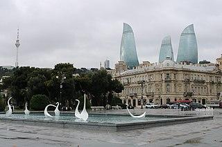 street in Baku, Azerbaijan