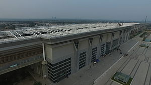 Weinan North Railway Station - The station from above
