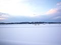 雪原、黄昏時 , Snowfield, Twilight. - panoramio.jpg